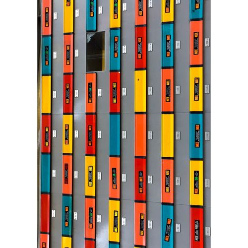 Post EyeEm Selects Multi Colored No People Side By Side Order Indoors  Number Yellow Industry Wall - Building Feature Full Frame Large Group Of Objects In A Row Business Close-up Still Life Arrangement White Background Backgrounds Cut Out