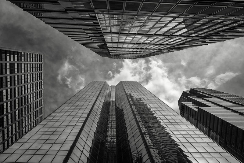 Architecture Building Building Exterior Built Structure City Cloud - Sky Day Directly Below Financial District  Glass - Material Low Angle View Modern Nature No People Office Office Building Exterior Outdoors Pollution Sky Skyscraper Tall - High Tower The Architect - 2018 EyeEm Awards