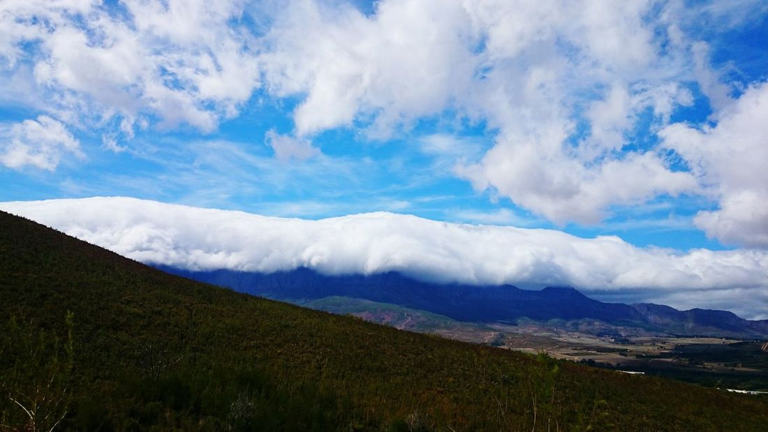 Nature Beauty In Nature Scenics Landscape Blue Sky Cloud - Sky Tranquility Outdoors Mountain Tranquil Scene No People Day Agriculture Hiking Adventures Dramatic Sky Wave Is That A Wave?