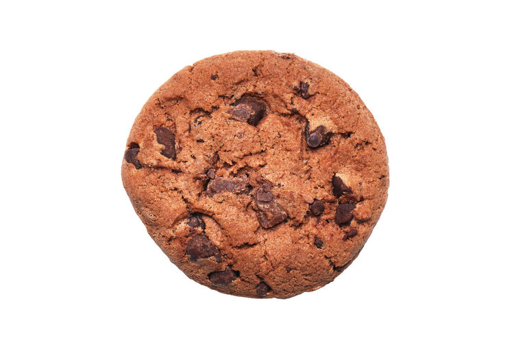 double chocolate cookie Studio Shot White Background Baked Food And Drink Food Cut Out Cookie Chocolate Chocolate Chip Brown Chocolate Chip Cookie Indulgence Sweet Food Single Object Close-up No People Unhealthy Eating Temptation Snack Double Chocolate Chip Cookie Double Chocolate Biscuit Directly Above Cookies Biscuits