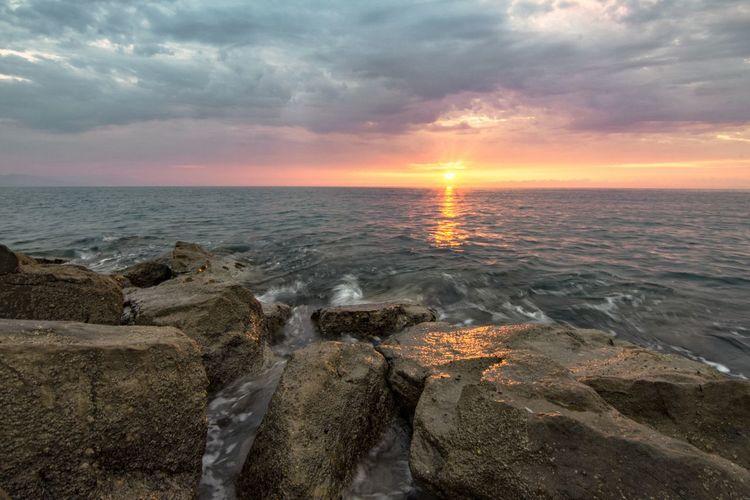 light at sunset