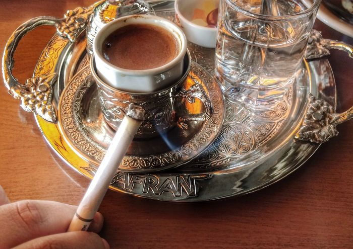Muhteşem ikili 😊 Cigarette  Turkishcoffee Gorgeous Duo Eyem Gallery EyeEm Best Edits Taking Photos Lonely Alone Pleasure Smoke Cigarettes 👌💕 Cigarette Time