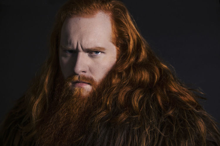 Viking Adult Adults Only Big Beard Black Background Close-up Curly Hair Handsome Man Headshot Long Hair One Man One Man Only One Person Only Men People Portrait Red Beard Red Hair ❤ Redhead Redhead Sheepcoat Studio Shot Viking Wild Young Adult