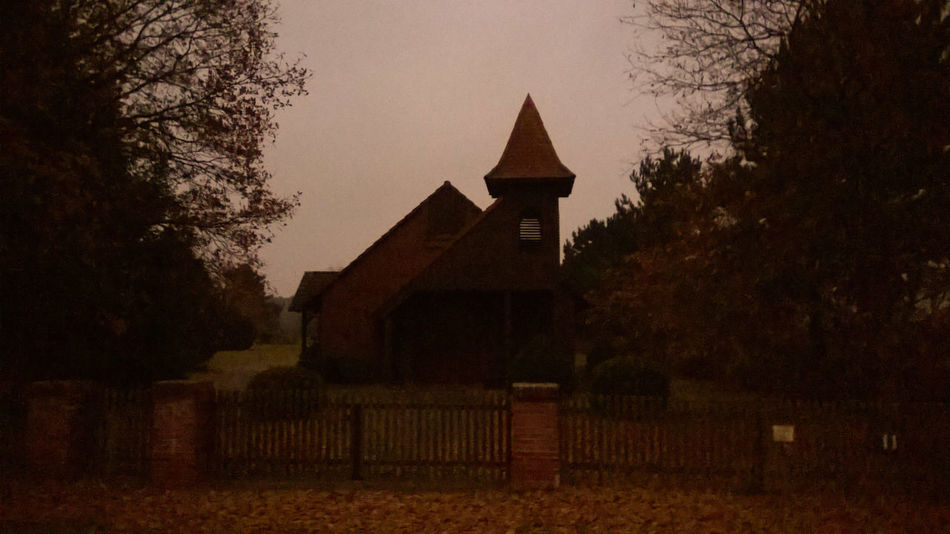 Kapelle Friedhof Nightfall Chapel Cemetery Spooky