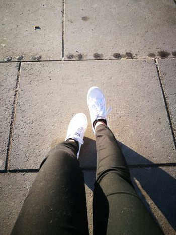 Shoe Human Leg Low Section Personal Perspective Human Body Part One Person Day Outdoors Adult Road People Shoes Commute