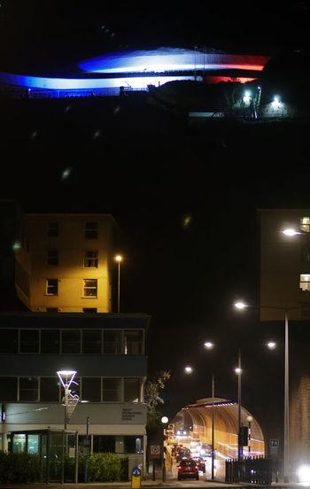 Anti-terrorism Aujourd'huijesuisparisien Cars FortRegent Jersey Lights Nighttime Prayforparis Solidarity StHelier Streetlights Sympathy Traffic Tricolore Tunnel Learn & Shoot: After Dark Getoutside Cities At Night HUAWEI Photo Award: After Dark