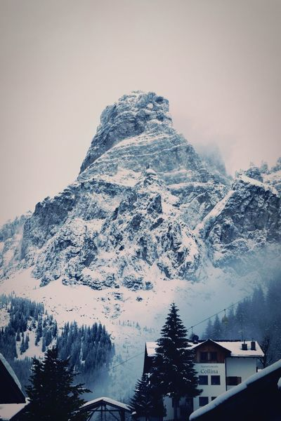 Mountain Alta Badia Sassongher Mountain Snow Winter Cold Temperature Mountain Range Scenics Beauty In Nature Outdoors No People Landscape