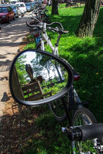 Spiegel Spiegelung Fahrräder Mirror Hamburg I Love My City