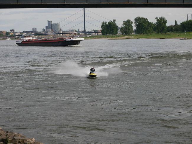 Day Jetskiing Leisure Activity Men Rhine River Summerfun The Purist (no Edit, No Filter) Water Waterfront