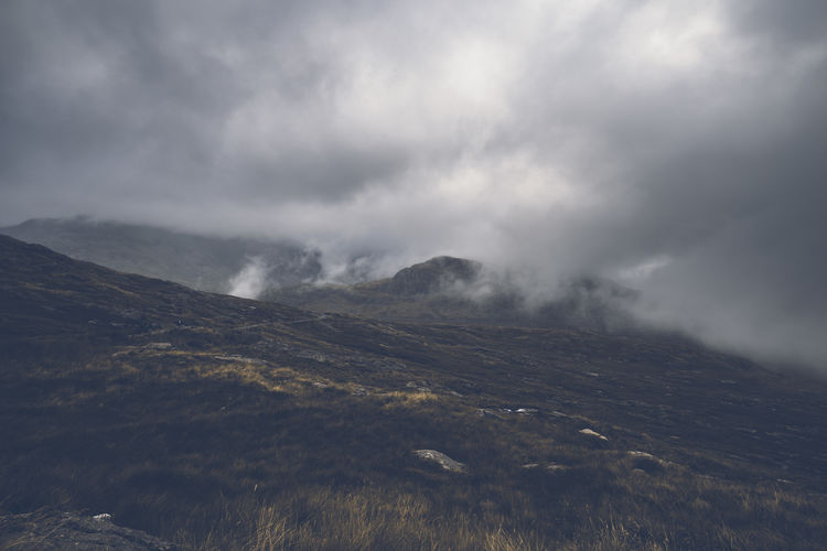 Rainy Clouds over Hills of Snowdonia Cloudy Misty Wales Weather Adventure Beauty In Nature Clouds Day Fog Foggy Landscape Mood Moody Weather Mountain Mountains Nature No People Outdoors Rainy Scenics Sky Snowdonia Toned Uk Valley