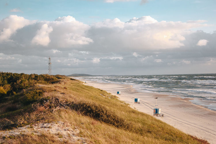 Curonian Spit Lietuva Lithuania Beach Beauty In Nature Cloud - Sky Day Golden Hour Grass High Angle View Horizon Horizon Over Water Land Nature Outdoors Plant Scenics - Nature Sea Sky Sport Sunset Sunsets Tranquil Scene Tranquility Water