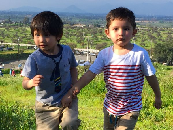 Playing Boys Childhood Casual Clothing Two People Real People Outdoors Togetherness Day Nature People Family Friends Landscape Nature Mountain City Life Pet Portraits