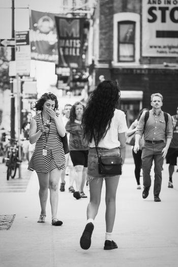 Full length of female friends