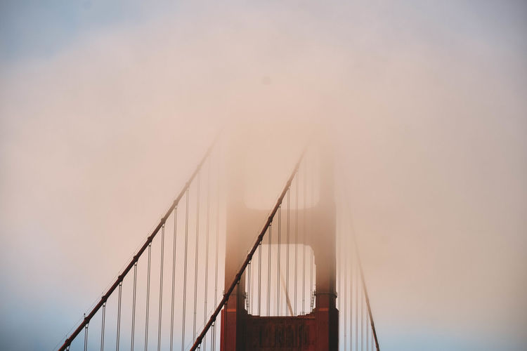 foggy morning in San Francisco, California. Architecture California California Coast Cityscape EEUU  Golden Gate Bridge Golden Gate Bridge In Background Holiday San Francisco Thanksgiving Travel USA USA Photos Vacation Time Art Backpack Built_Structure Fog Fog_collection Foggy No People Outdoors Red Lips Sky Travelphotography Fresh On Market 2017