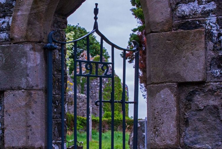 Timeless Abbey Cemetery 1912 12th Century Tipperary Ireland🍀 Monastic Village Gate Sky Architecture Graveyard Gravestone Memorial