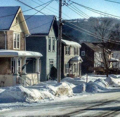 Drivebyphotography Blue Sky Winter Wonderland Houses My Hometown