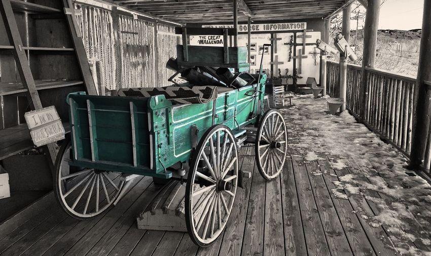 Tallulah Gorge Wagon  VividHDR Color Splash Sepia