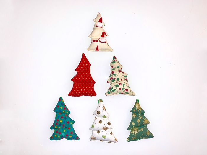 Christmas Celebration Holiday White Background Studio Shot christmas tree Indoors  Christmas Decoration Decoration Art And Craft No People Still Life Tree Creativity Copy Space Star Shape Holiday - Event Shape Wall - Building Feature Christmas Ornament