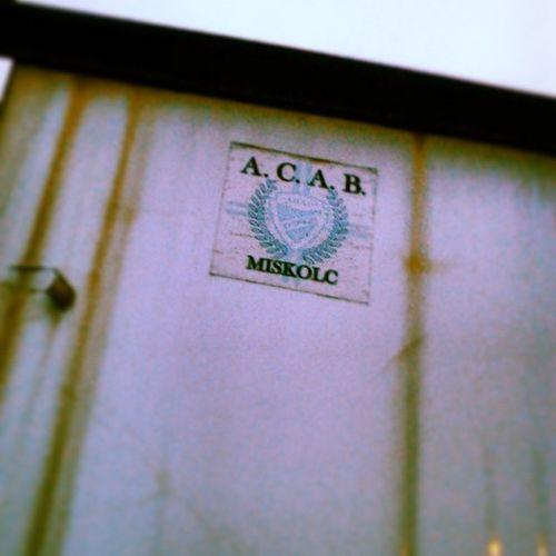 Miskolc ACAB Dvtk A .c.a.b. sticker old rozsda