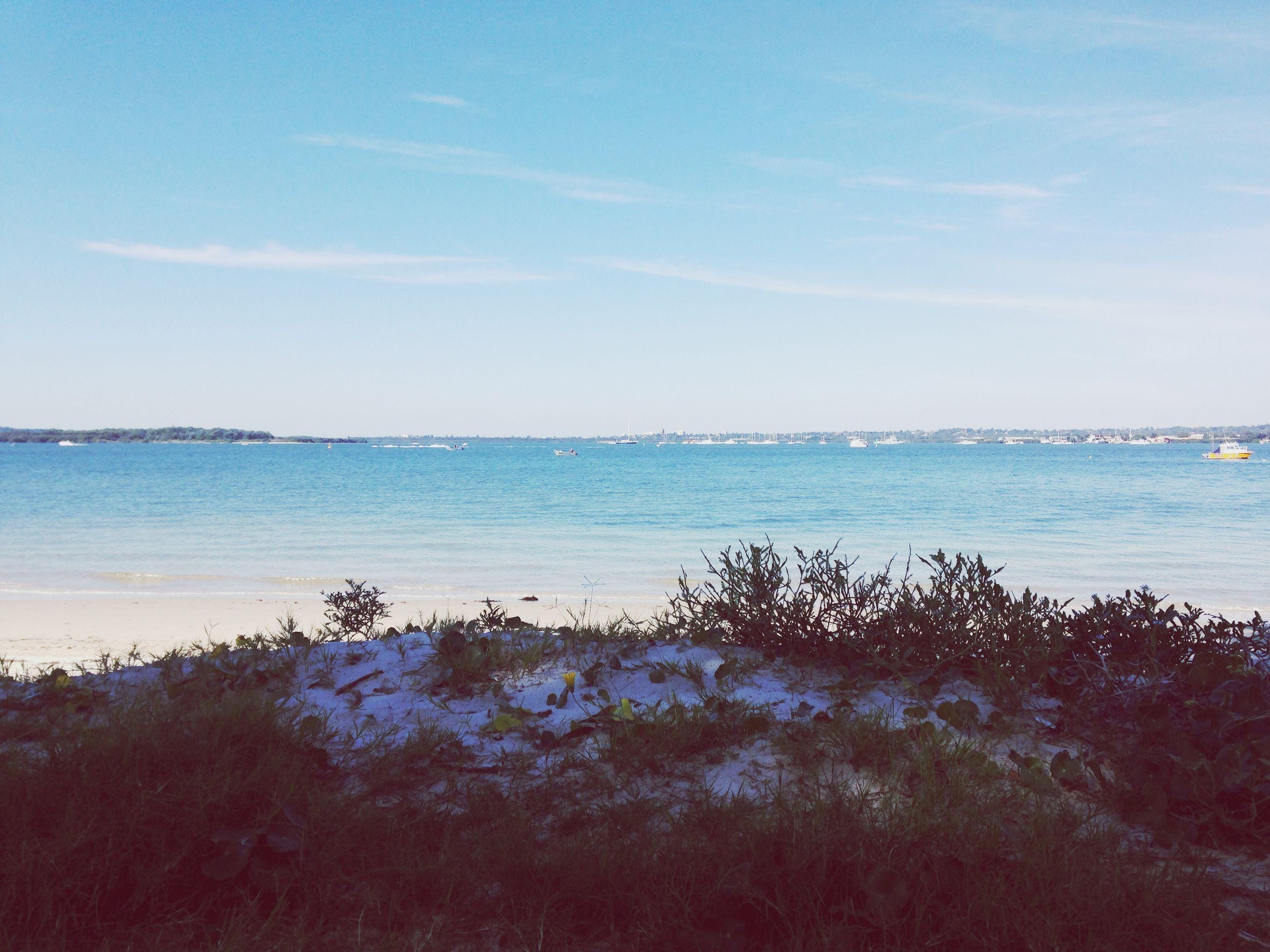 sea, water, tranquil scene, tranquility, scenics, sky, horizon over water, beauty in nature, beach, blue, nature, shore, idyllic, tree, cloud - sky, remote, non-urban scene, outdoors, calm, coastline