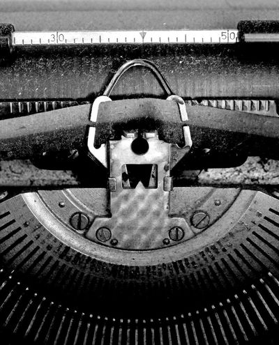 Antique Black & White Old-fashioned Retro Close-up Metal No People Old Things Old Typing Machine Typing Machine Dust Dusty EyeEmNewHere