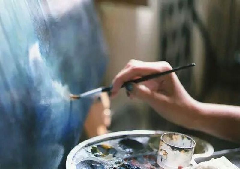 Draw Art Blue Oil Vintage ArtWork