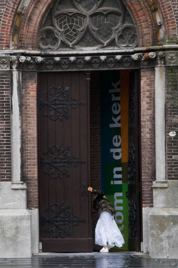 Church Architecture Day Door Entrance Kerk One Person Religion Spirituality