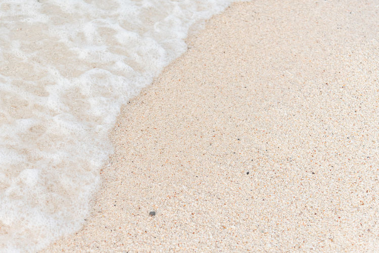 Abstract Background Bay Beach Brown Closeup Coast Foam Holiday Natural Nature Ocean Outdoor Pattern Relax Sand Sandy Sea Seascape Seashore Seaside Shiny Shore Summer Sunlight Surf Surface Texture Tranquil Travel Tropical Vacation Water Wave White Yellow