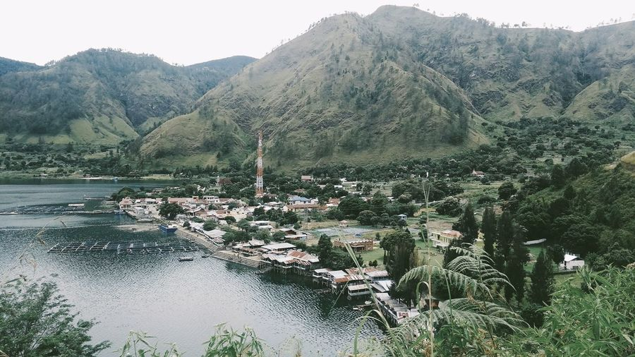 Tomok, Lake Toba Tree Mountain Snow Winter Cold Temperature Lake Pinaceae Pine Tree Water Forest Rocky Mountains Agricultural Field Physical Geography Geology Arid Landscape Volcanic Landscape