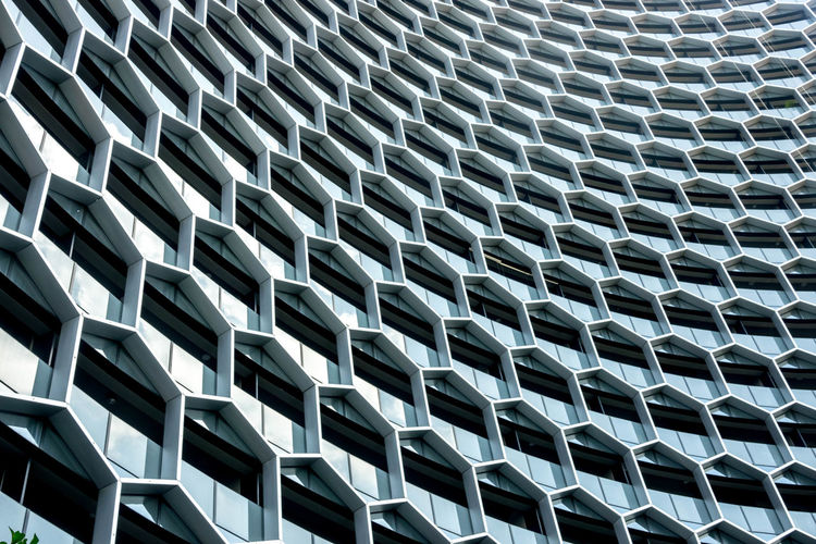 building design Abstract Alloy Architecture Backgrounds Built Structure Close-up Day Design Full Frame Geometric Shape Grid Low Angle View Metal Modern No People Outdoors Pattern Repetition Shape Silver Colored Steel Textured  EyeEmNewHere