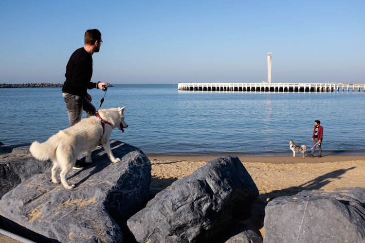 Oostende (Belgium), 2019. Streetphotography People Belgium Water Sea Domestic Animals Pets Dog Outdoors Leisure Activity The Art Of Street Photography