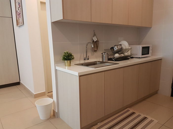 Domestic Room Cabinet Apartment Furniture Chair Kitchen Domestic Life Home Interior Domestic Kitchen Home Showcase Interior Drawer Oven Microwave Stove Major Household Appliance