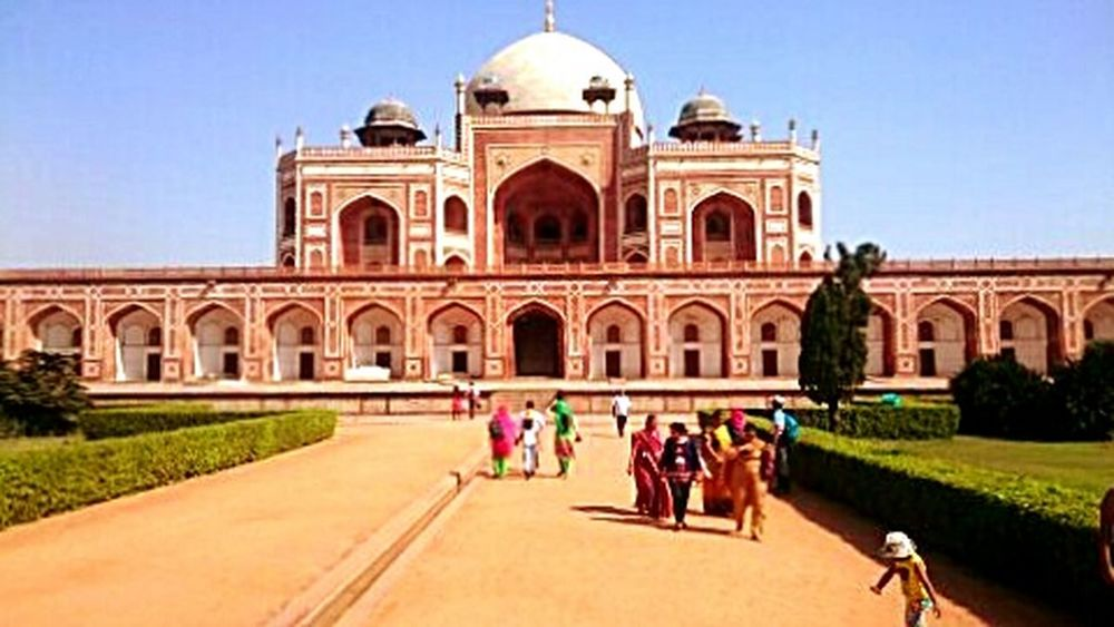 Travel Destinations Architecture Travel Tourism Cultures History Building Exterior Tourist Built Structure Sky People Outdoors Clear Sky Tomb Day India Delhi New Delhi Humayun's Tomb Colors Colorful Colour Of Life Mughal Mughal Architecture MughalStyle EyeEmNewHere