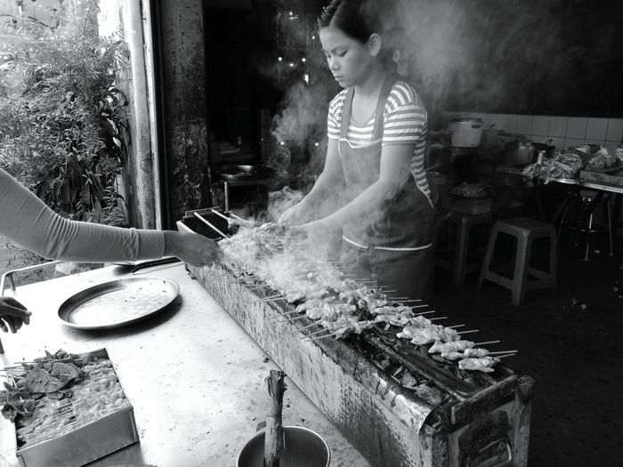 Food Porkbbq People Monochrome Life First Eyeem Photo