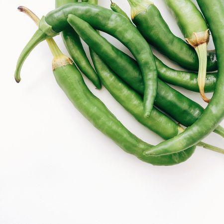 Green Chilli's Green Chillies Green Chillis Chilli Hot Spicy Spicy Food Spice Capsicum Chilli Pepper