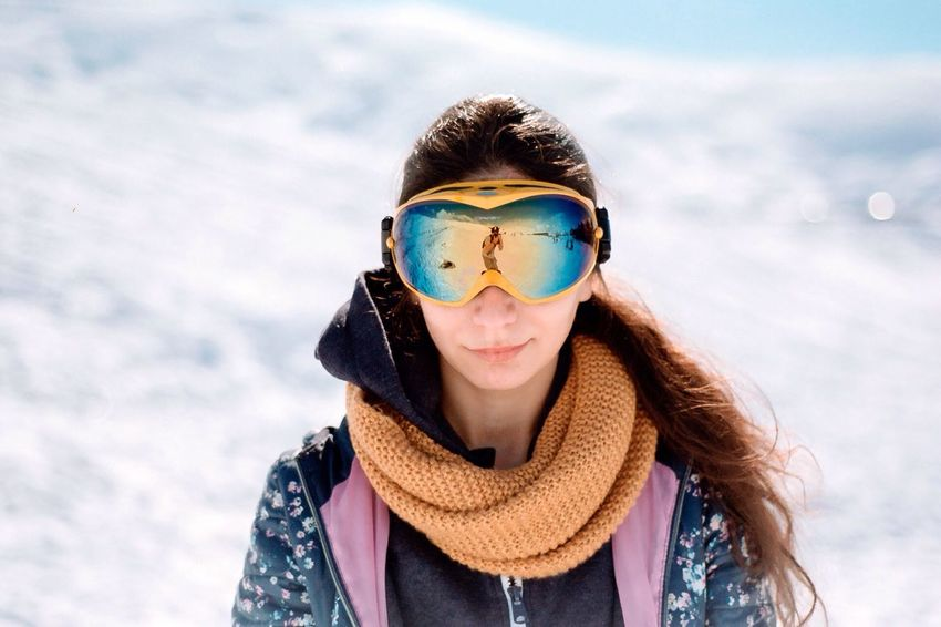 Snow Winter Warm Clothing Portrait Cold Temperature Young Adult One Person Ski Goggles Looking At Camera Leisure Activity Real People Headshot Front View Analoglove Kodakphoto Analogphotography Filmphotography Filmsnotdead Analog Outdoors Snowboarding Close-up Lifestyles Day Young Women