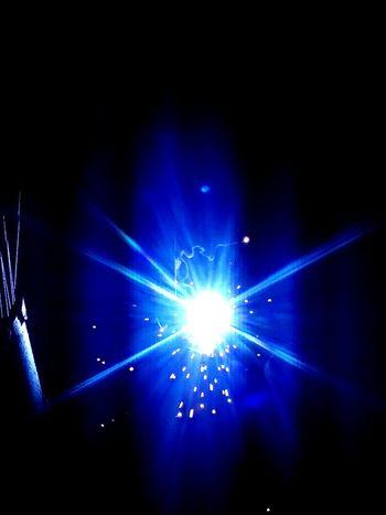 Light Scatter darkness and light Llight Bluelight Welding Work Light And Shadow Firework - Man Made Object