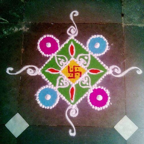Colourful Rangoli Art Swastik Happniess Mumbai
