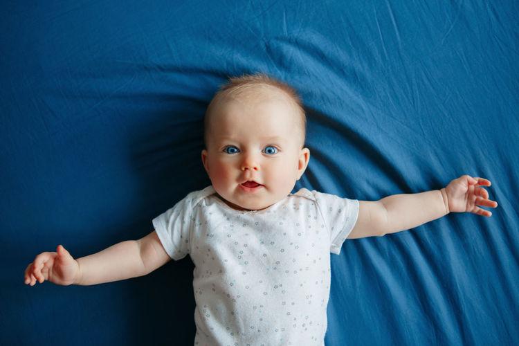 Portrait of cute baby