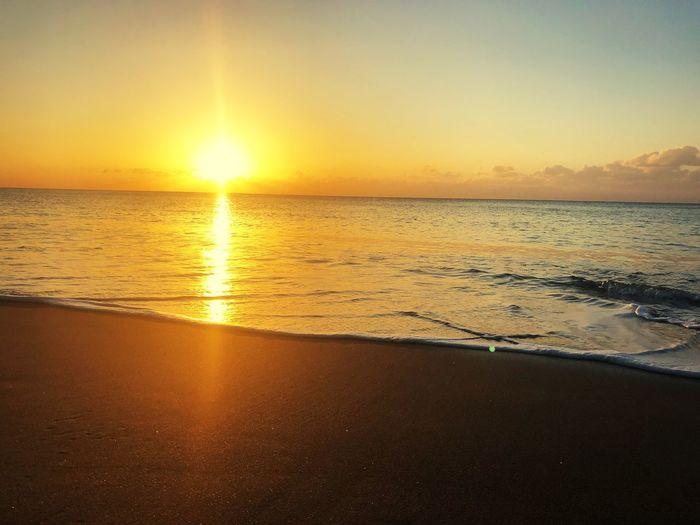 Tahara Aichi Japan Sunset Water Sky Beauty In Nature Beach Scenics - Nature Sea Horizon Over Water Tranquility Idyllic Reflection Sun Sunlight Tranquil Scene No People Land Orange Color Nature Horizon Outdoors