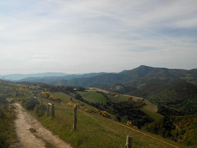 Aufstieg Camino CaminodeSantiago Cebreiro El Camino De Santiago Galicia Jakobsweg Pass Pilgern Pilgrimage