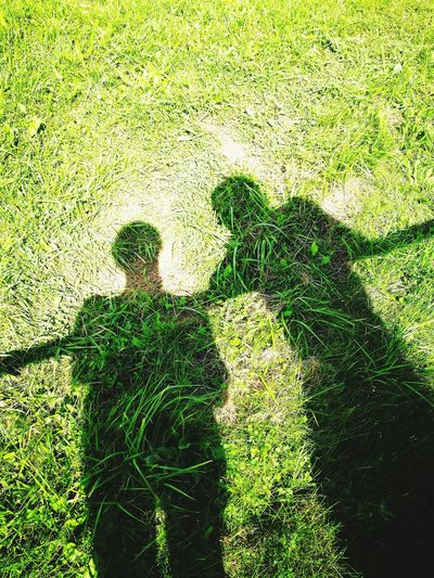 Me And My Husband -♡♥ Shadow Grass Day Real People Green Color Togetherness Outdoors Nature Standing