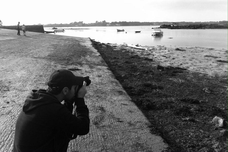 Colors Of Brittany sur le port de Saint Cado à Belz Photographer Black And White