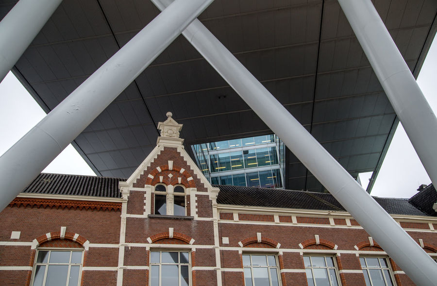 Symbiose of Historical & Modern Architecture Architecture Architecture Building Exterior Built Structure City Historical Building Low Angle View M Netherlands No People Outdoors Rotterdam Travel Destinations