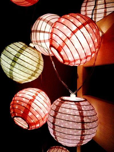 Hanging Chinese Lantern Indoors  Lantern Variation No People Illuminated Chinese New Year Day