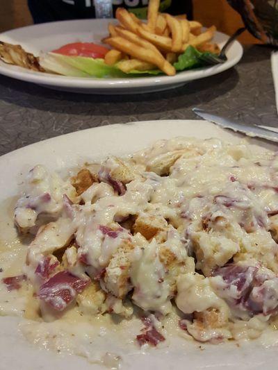 ShareTheMeal Freshness No People Food Ready-to-eat Creamed Chipped Beef Side Salad Yum Philadelphia