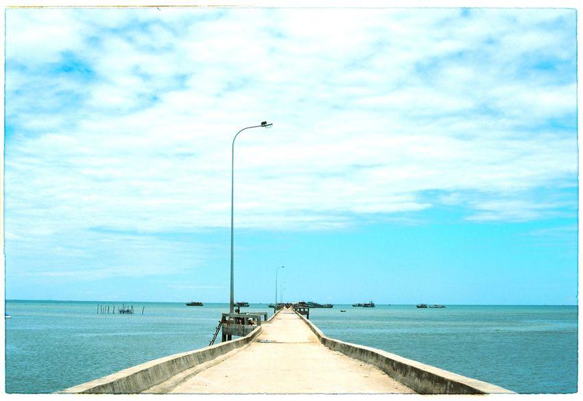 Beach Blue Sky Bridge Cloud Cloud - Sky Dock Film Film Photography Filmisnotdead Harbor Phu Quoc Phuquoc Phuquocisland Quay Quayside Sea Sea And Sky Seascape Shore Sky Skyline Vietnam Wharf Wharfside