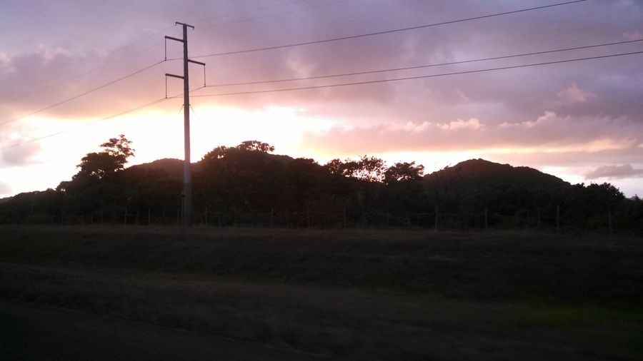 Sunset from the highway. Puerto Rico Humacao Sunset Beautiful Nature