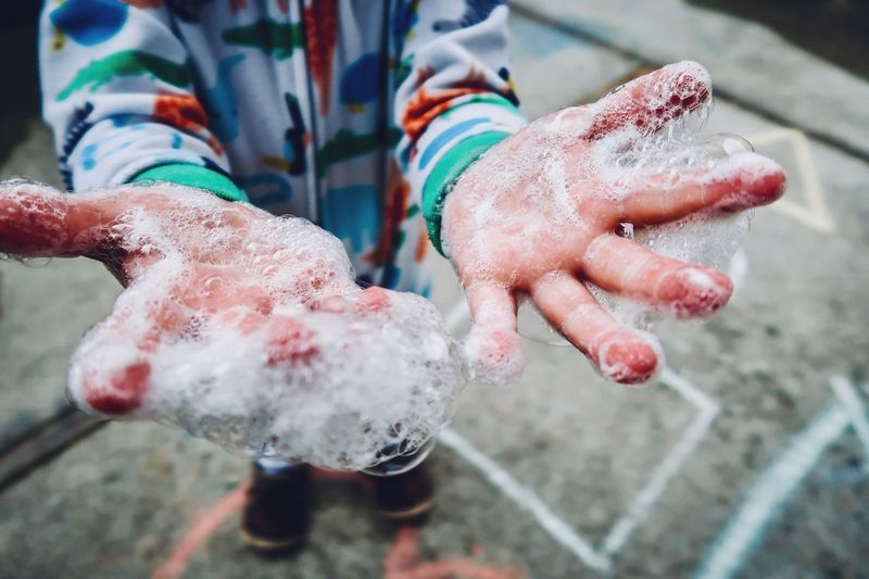 Bubble boy... EyeEm Selects Human Hand Hand Human Body Part Real People One Person Close-up First Eyeem Photo