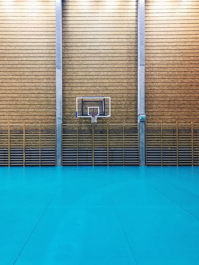 View of empty basketball court
